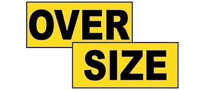 Oversize Sign, 72x12 in. Magnetic for Transportation, Made in USA