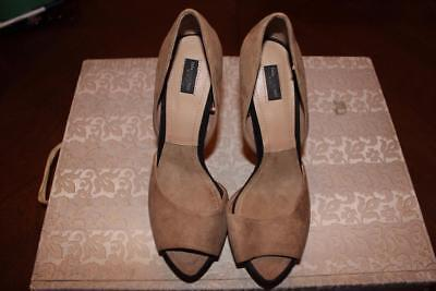 14c20f0dc1b Shoes Ladies Women High Heels Zara Collection by Basic Size 38 Beige Suede