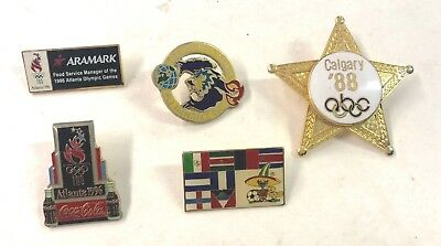 1996 Atlanta USA Olympics And Others Five (5) Pins Lot32