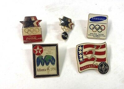 1996 Atlanta USA Olympics And Others Five (5) Pins Lot33
