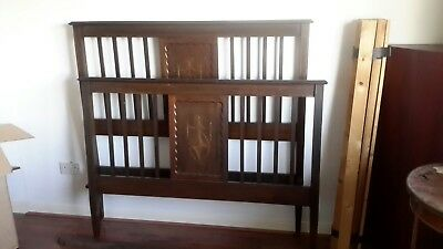 Edwardian Mahogany Inlaid Double Bed