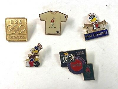 1996 Atlanta USA Olympics And Others Five (5) Pins Lot37
