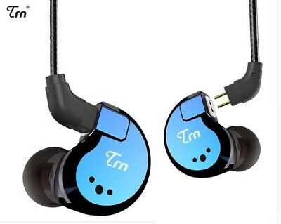 TRN V80 2BA+2DD Quad Driver Hybrid With Detachable Cable In Ear Earphon With Mic