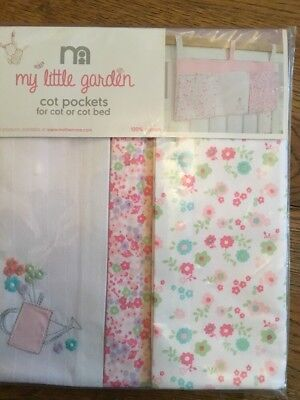 Mothercare My Little Garden Cot Pockets  ..Bnip