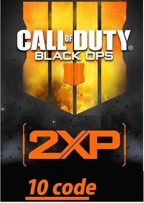 x10 Code 2xp pour call of duty black ops 4  (PC, PS4, XBOX) 2h30 2xp PROMOTION