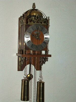 Rare Beautiful Vintage Warmink Dutch Lantern Wall Clock,8 days pendulum movement