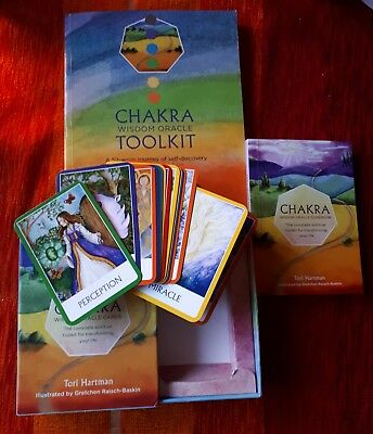 Oracle Card Deck Chakra Wisdom & Chakra Wisdom Oracle Toolkit Book Tori Hartman