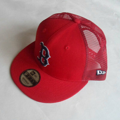Boston Red Sox New Era MLB Mesh Snapback Hat - Size Small/Medium