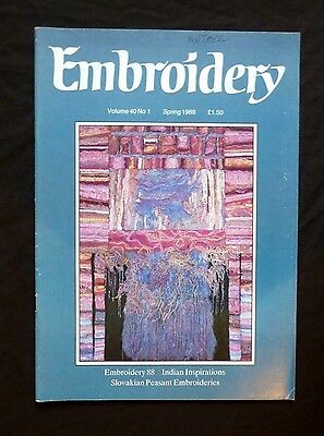 Embroidery, Spring 1989, Vintage Vol 40 No 1,  Combining Needlework and Art