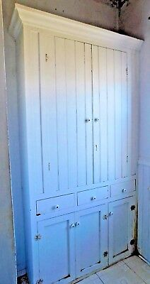 1800's Antique Built-In BUTLER PANTRY Cabinet & Trim VICTORIAN Style Fir ORNATE