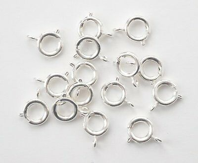 20 silver plated 9mm bolt rings, findings for jewellery making crafts