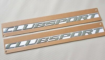 Clubsport Chrome Script Badge X 2 For HSV VY with Self Adhesive Back Hi Quality