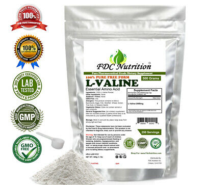 BCAA Powder - 100% pure L-Valine powder 2.2lb (1000g) Muscle building by FCNutri