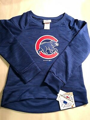 low cost 09a72 44c84 CHICAGO CUBS SWEATSHIRT Youth XL Majestic Kids Gray ...