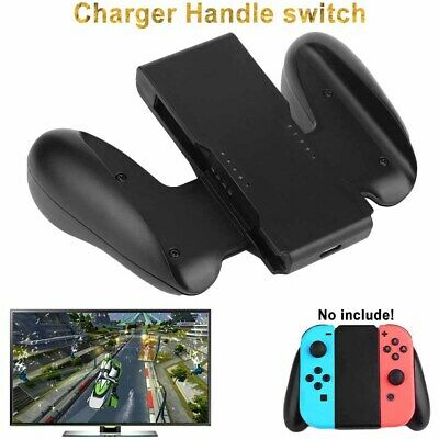 Comfort Grip Handle Bracket Holder Charger Charging Fits Nintendo Switch Joy-Con