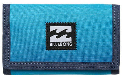 New + Tag Billabong Atom Tri-Fold Boys Mens Kids Wallet Surf Blue Navy Polyester