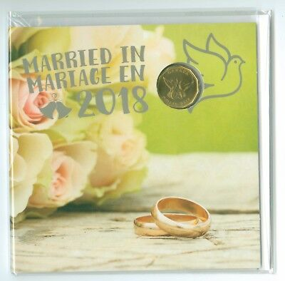 Canada Married In  2018 Coin Set With Special Limited Edition Dollar Wedding