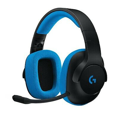 Logitech G233 Prodigy Wired Gaming Headset, Black and Blue