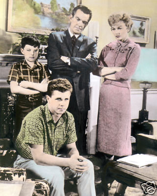 """CAST of LEAVE IT TO BEAVER TELEVISION 1960s 8x10"""" HAND COLOR TINTED PHOTOGRAPH"""