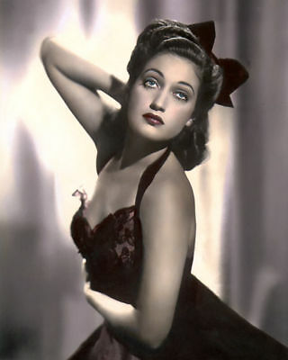 "DOROTHY LAMOUR NEW ORLEANS NATIVE ACTRESS 8x10"" HAND COLOR TINTED PHOTOGRAPH"