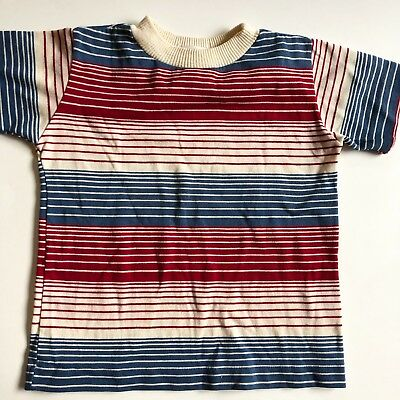 Vintage 70s Short Sleeve Striped Shirt Healthtex 5T