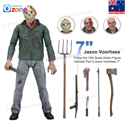NECA Friday the 13th Scale Action Figure Ultimate Part 3 Jason Voorhees 7""