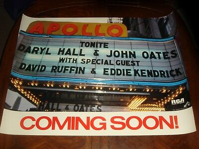 "DARYL HALL & JOHN OATES ""Live At The Apollo"" 1985 RCA RECORDS PROMO POSTER NMINT"