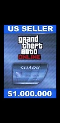 GTA V SHARK CARD PS4 Grand Theft Auto Online $1,000,000 (READ DESCRIPTION)