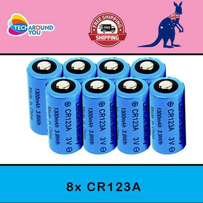 8X 3V CR123A Non Rechargeable Battery Netgear Arlo Security Camera VMS3330 3430