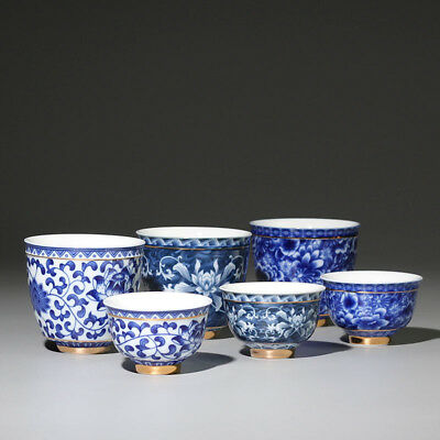 Chinese Jingdezhen Blue and White Porcelain Tea Cup Bowl Ceramic Kung Fu Teacup