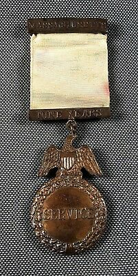 Massachusetts Volunteer Militia 9 Years Long Service Medal #3877 MVM 705N
