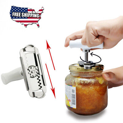 Adjustable Professional Stainless Steel Can Bottle Opener Jar Lid-Wrench Remover