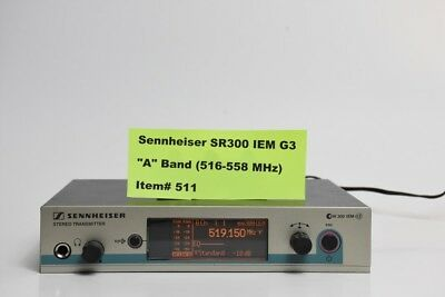 Sennheiser SR300IEMG3-A 516-558 MHz Rack Mountable Wireless IEM Monitor #511