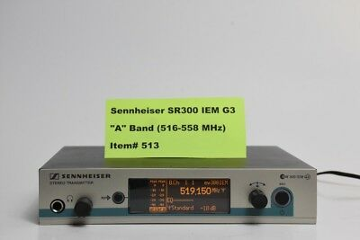 Sennheiser SR300IEMG3-A 516-558 MHz Rack Mountable Wireless IEM Monitor #513