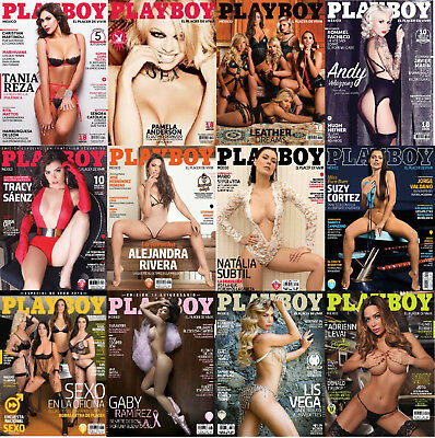 Playboy Mexico 2016 Complete Full Year HOT & SEXY! Lot of 12 Issues