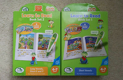 Leapfrog Tag Reader (Leap Frog Reading Pen) - Book Set 1 & 2 (12 books!) NEW
