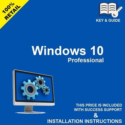 Microsoft Windows 10 Pro Professional 32/64bit Genuine Product Key License Code