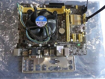 Asus H81M-A motherboard, Pentium G3220 cpu and cooler combo