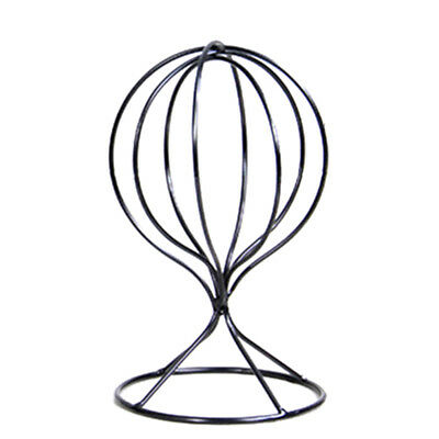 KD_ Hollow Balloon Metal Wig Hairpiece Stand Tabletop Decorative Hat Holder Fl