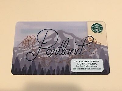 Newest Starbucks Portland City Gift Card - New