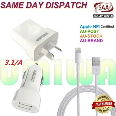 Usb Wall Adapter Plug Car Charger Data Cable Iphone 5 Se 6 7 8 Plus X Xr Xs Max