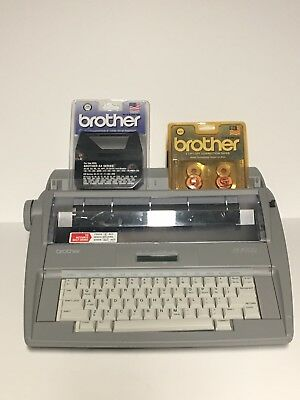 Brother SX-4000 Portable Electronic Display Typewriter W Ribbons Correction Tape