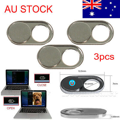 AU Silver Webcam Cover Camera Privacy Security for iPhone Android MacBook Tablet