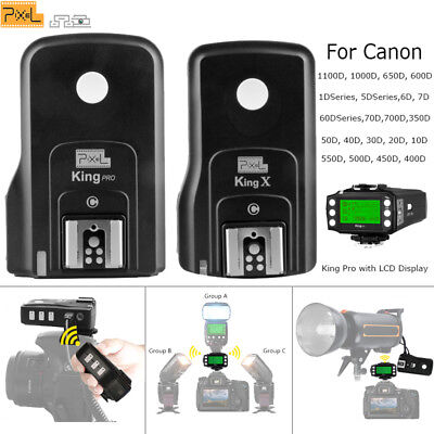 Pixel King Pro 2.4GHz Wireless TTL Flash Trigger Kit with LCD display for Canon