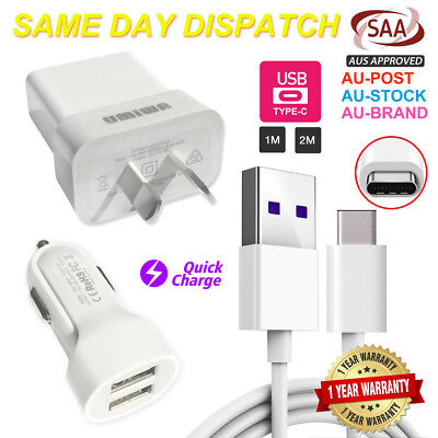 Ac Usb Wall Charger Plug Car Adapter Usb Data Cable-Samsung S8 S9 S10 Plus Note