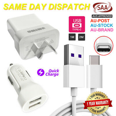 Usb Wall Charger Plug Car Adapter Data Cable-Samsung S7 S8 S9 S10 Plus Note