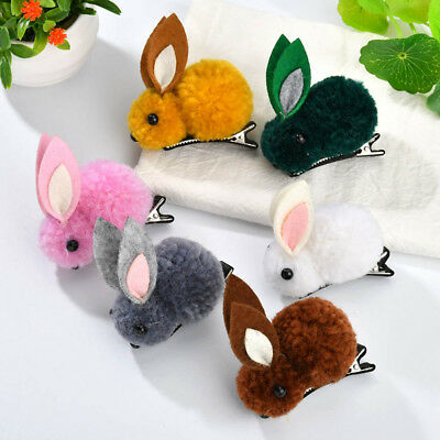 Novelty Rabbit Shaped Headwear Girls Hair Clips Barrettes Baby Hair Accessories