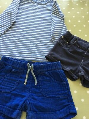 Girls Bundle Of 2 Pairs Of Shorts  And A Boden Top 8-9Yrs