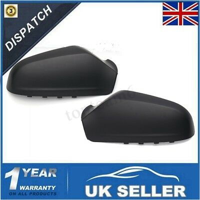 Pair Left + Right Wing Door Mirror Cover For Vauxhall Opel Astra H 2004-2009