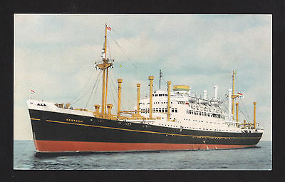 vintage Holland America Line MV Noordam ship Netherlands postcard